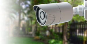 camera on the outside of a residence